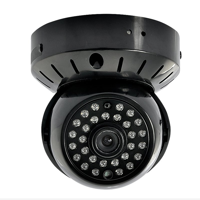 CCTV Dome Camera w/ Micro SD DVR