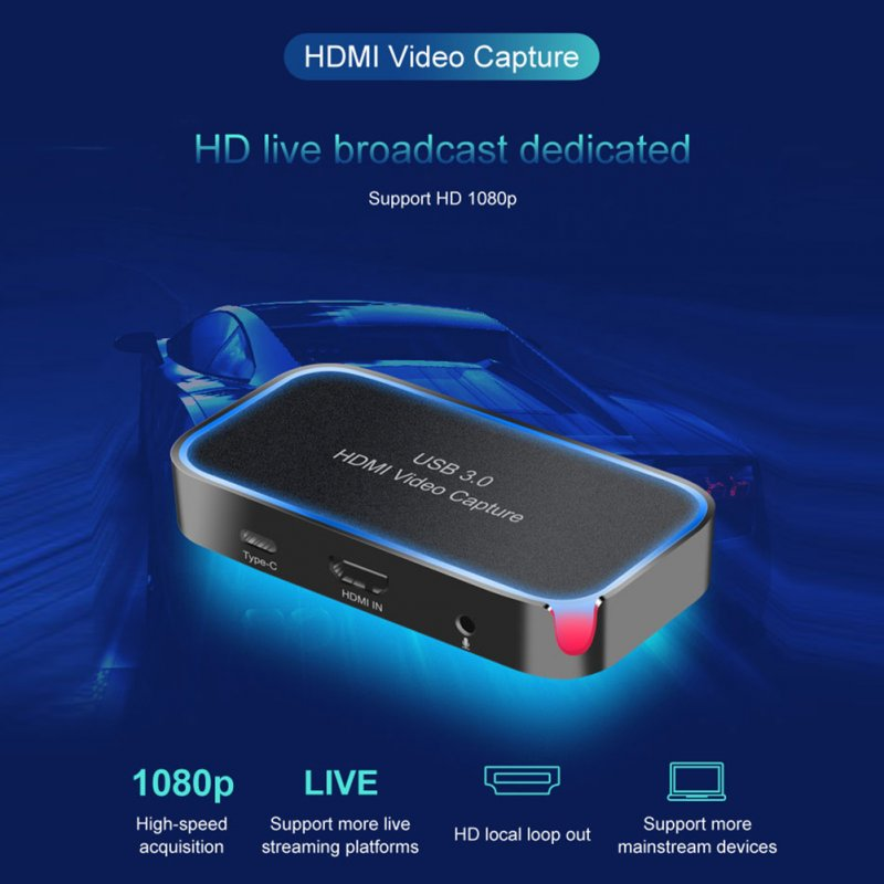 CK200 1080P HDMI Video Capture Card Portable Multi-function Video Capture Card black_1080P