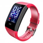 CK28 Smart Bracelet 1.14 Color Screen Heart Rate Blood Pressure Real-time Monitoring IP67 Waterproof red