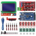 CNC 3D Printer Kit with Mega 2560 Board RAMPS 1.4 Controller LCD 12864 A4988 Stepper Driver for Arduino 3D printer kit