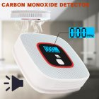 CO Carbon Monoxide Detector Poisoning Gas Warning Monitor LCD Sensor Alarm white