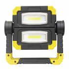 COB Butterfly Work Light Outdoor Floodlight LED Folding Construction Site Portable Handheld Work Light Black and yellow
