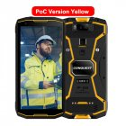 Original CONQUEST S12 Pro Phone Safety Explosion Proof IP68 4G Mobile Phone 8000mAh Android Rugged Smartphone EU Plug yellow_6+128GB without intercom