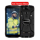Original CONQUEST S12 Pro Phone Safety Explosion Proof IP68 4G Mobile Phone 8000mAh Android Rugged Smartphone EU Plug black_6+128GB without intercom