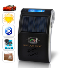 CVCJ B44  Enjoy safe  hands free  and hassle free Bluetooth communication in your car with this Solar Powered Car Bluetooth Kit