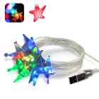 CVCW G387  Brighten up your home or office and add some color to your life with these beautiful USB Powered Crystal Sparkling Color Stars