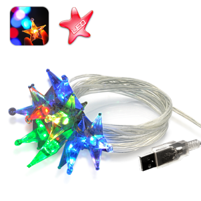 Crystal Sparkling Color LED Stars