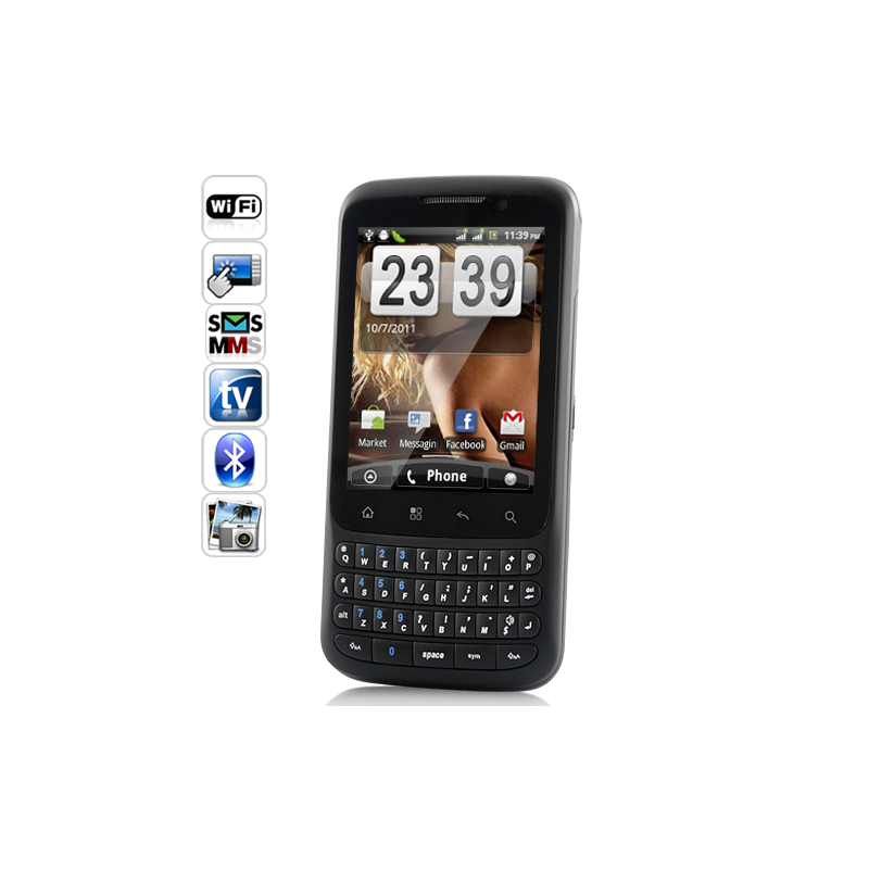 Ebony QWERTY Android 2.2 Phone