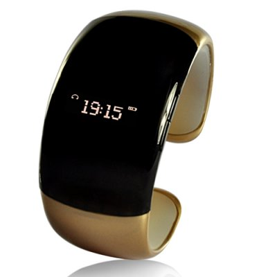 Brown Bluetooth Bracelet with Time Display