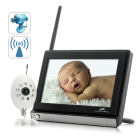 CVKA I162  Baby Monitoring has never been so advanced with this convenient Monitor Buddy   Night Vision Wireless 7 Inch LCD Baby Monitor
