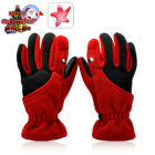 CVLJ LT79  These cool looking gloves are made of polar fleece for ultimate warmth and comfort  Plus they come with anti slip protection on both finger and