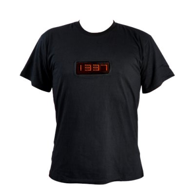 Medium LED Time and Message T-shirt