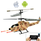CVSB G400  Controlled using your iPhone  iPad  iPod Touch  or Android Phone  the Cobra RC iHelicopter is the world   s coolest Android RC helicopter
