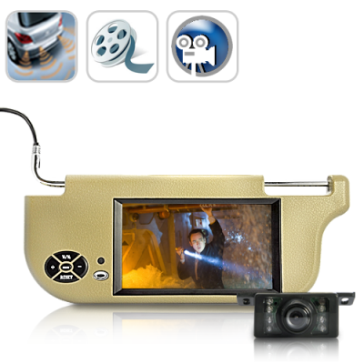 7 Inch Sun Visor LCD Monitor and Camera