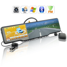 CVTP TR37  Replace your normal rearview mirror with this complete all in one Bluetooth Rearview Mirror  featuring hands free cell phone calling  GPS  DVR