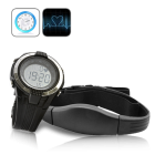 CVVO H64  New digital heart rate monitor consisting of an exercise watch and chest belt to track your heart rate during daily exercise routines