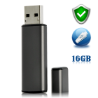 CVVV J68  16GB High Security USB Flash Drive  AES 256 Encoding  Unlimited Partition Creation    keep your data safe and secure  Wikileaks  Lulzsec  Bring it