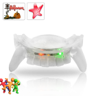 CVWQ G358  Add a colorful bite to your Christmas and New Year festivities with this Vampire Teeth Flashing Multicolor LED Mouthpiece
