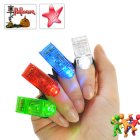 CVWQ G369  Be the life of the party with this Flashing Finger Beam LED Light Set  Featuring a red  green  blue  and white LED  these lights fit easily over