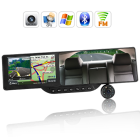 CVXC C137  Replace your normal rearview mirror with this complete all in one Bluetooth Rearview Mirror  featuring hands free calls  GPS  DVR  media