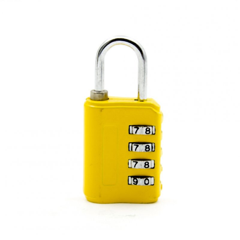Cabinet Luggage Bag Suitcase Simple Design 4 Digit Security Password Lock Small Padlock yellow