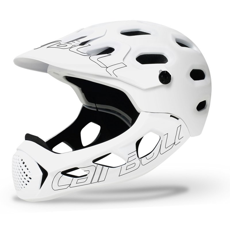 Cairbull ALLCROSS Mountain Cross-country Bicycle Full Face Helmet Extreme Sports Safety Helmet white_M/L (56-62CM)