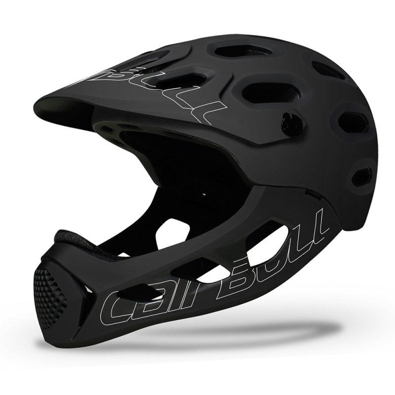 Cairbull ALLCROSS Mountain Cross-country Bicycle Full Face Helmet Extreme Sports Safety Helmet black_M/L (56-62CM)
