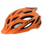 Cairbull CROSSOVER Cycling Helmet MTB Bike Helmet Integrated Rear Light Casco Ciclismo Road Mountain Helmets Safety Cap Orange_L (59-62CM)