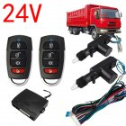 2 Door Remote Control Car Central Lock Locking Security System Keyless Entry Kit black