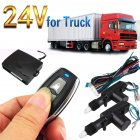 24V Electronic Car Truck Central Remote Control Locking Door Anti-theft Lock black
