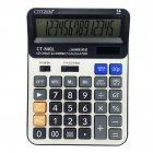 Calculator Large Solar 14 - Digits Display Desktop Calculator Office Home Stationery black