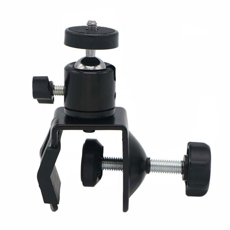 Camera Bracket U-shaped Clip with Pan-tilt Multi-function U-shaped Camera Holder Black