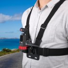 Camera Chest Strap Belt Mount Strap+Adapter for DJI OSMO POCKET GOPRO Camera black