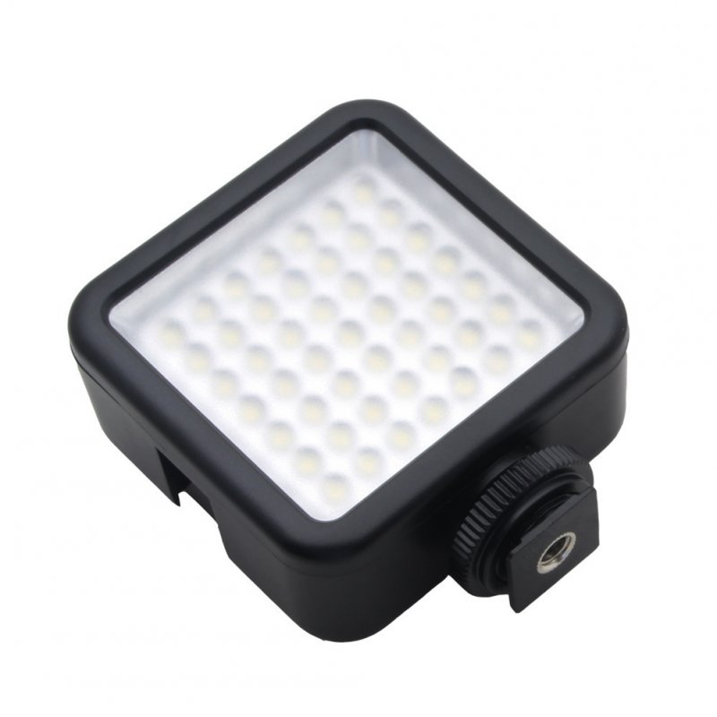 Camera Fill Light 49 LED Fill Lights for Camera Studio News Wedding Video Fill Light Black