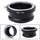 Camera Lens Adapter AI-M4/3 Mount Adapter Ring For Nikon F AI AF Lens to Micro 4/3 Olympus Panasonic black