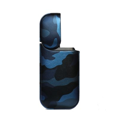 Camo PU Leather Case for IQOS - Blue