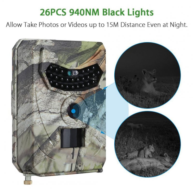 Camouflage 12MP Hunting Camera Photo Trap Night Vision 1080P Video Trail Wildlife Camera Camouflage