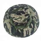 Camouflage Bucket Hats Fisherman Hat With Wide Brim Sun Fishing Bucket Hat Camping Caps Scissors flower