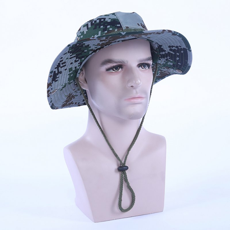 Camouflage Bucket Hats Fisherman Hat With Wide Brim Sun Fishing Bucket Hat Camping Caps 07 Digital
