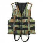 Camouflage Life Jacket Lightweight Adult Foam Swimming Life Jacket Adjustable Foldable Life Jacket Vest Type 1_XL-suitable for 60-80 kg