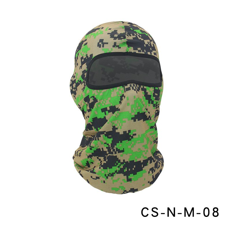 Camouflage Riding Fishing Mask Camouflage Headscarf Fishing Cycling Fishing Bike Headband Tube Scarf Mask CS-N-M-08 Digital Army Green_One size