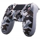 Camouflage Soft  Silicone Case Skin Grip Cover for  4 PS4 Controller  gray