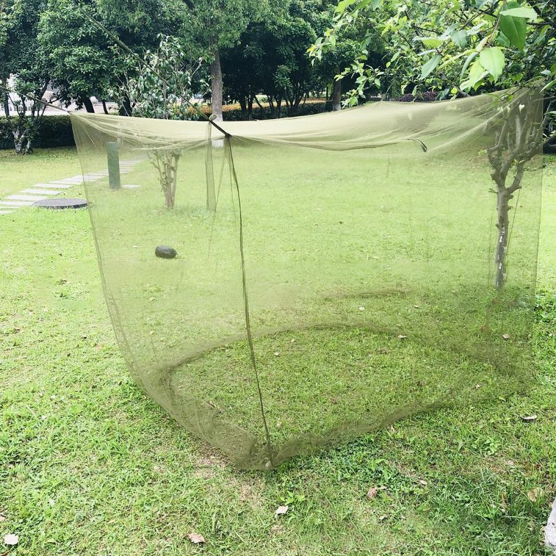 Camping Mosquito Net Portable Dense Mesh Foldable Outdoor Travel Tent Army Green Mosquito Net ArmyGreen