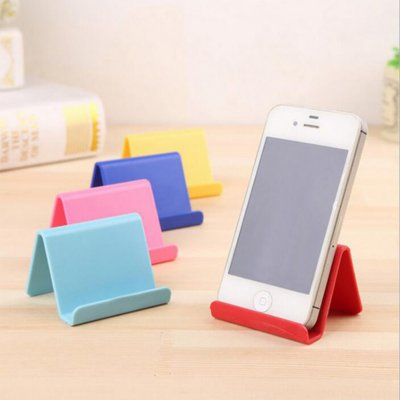 Candy Color Tabletop Phone Holder Kitchen Organizer Random Color 1pcs