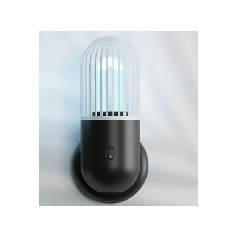 Capsule UV Disinfection Lamp with Ozone Sterilization Can Be Regularly Disinfected for Bedroom Plain black-with ozone