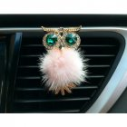 Car Air Freshener Perfume Holder For Car Outlet owl Auto Outlet Vent Perfume Clip Pink