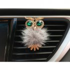 Car Air Freshener Perfume Holder For Car Outlet owl Auto Outlet Vent Perfume Clip gray