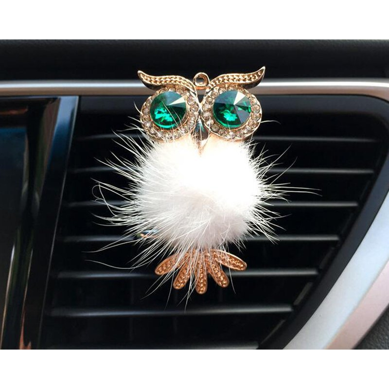 Car Air Freshener Perfume Holder For Car Outlet owl Auto Outlet Vent Perfume Clip white