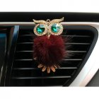 Car Air Freshener Perfume Holder For Car Outlet owl Auto Outlet Vent Perfume Clip Wine red