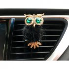 Car Air Freshener Perfume Holder For Car Outlet owl Auto Outlet Vent Perfume Clip black